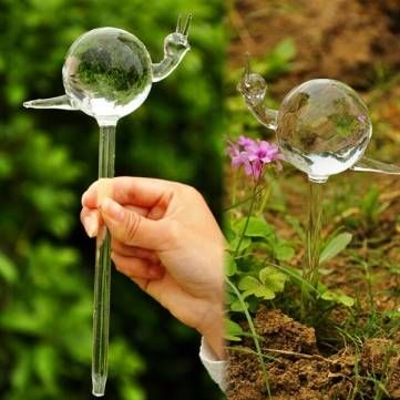 Glass Snail Automatic Drip Watering Potted Plant Irrigation Controller