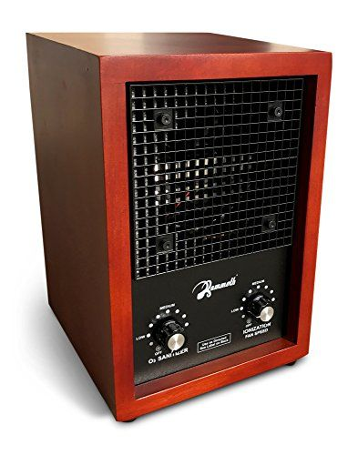 Mammoth Cherry Wood Ozone Generator 3000mg Home Use Air Purifier Deodorizer Sterilizer  NATURAL ODOR PURIFICATION: Ozone breaks down in about 30 minutes and it is a natural oxidizing agent to desotry smoke stink, strong cooking smells, pet urine odors, musty closets, moldy spaces, etc.  ADJUSTABLE OZONE LEVEL: This air purifier features two knobs to control the fan speed and the ozone production. This way you are in control of the level of ozone production.  SIMPLE & EASY TO USE: All y...