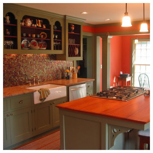 green cabinets in kitchen funky and for some reason i like it house 3971