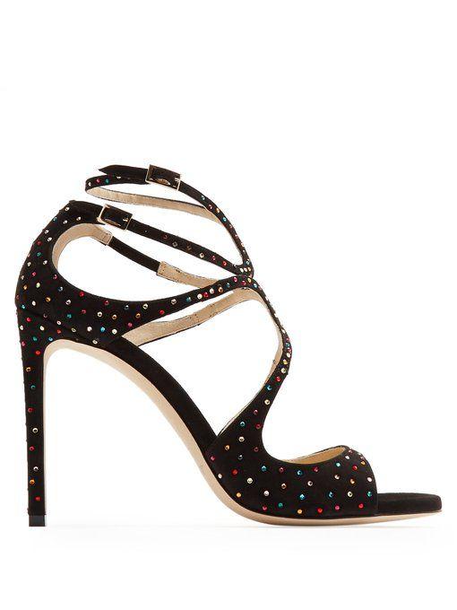 48e3deb81a7f Jimmy Choo Lang 100 crystal-embellished sandals