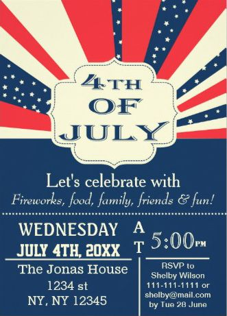 32 best 4th of July Party Invitations images on Pinterest