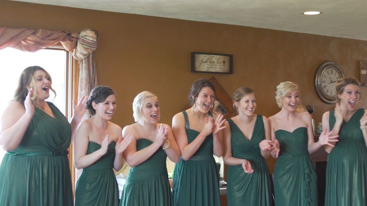 https://vimeo.com/214935022  Nothing screams central Illinois wedding more than windmills, barns, and country time-lapses! The bridesmaids wore green to match the spring wedding colors as the bride carried light romantic spring flowers. The guys played some yard games to start the day and wore suspenders and classic black tuxes. The bride and groom shared emotional letters to each other that you can hear in the wedding view highlight. The wedding reception was an all night dance party!