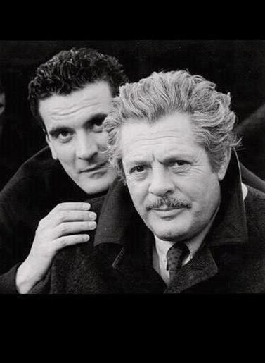 Massimo Troisi and Marcello Mastoianni two legendes together