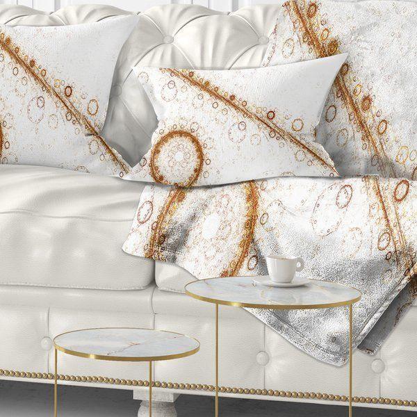 Abstract Live Cell Protein Under Microscope Lumbar Pillow Lumbar Pillow Contemporary Bedroom Decor Living Room Decor Modern