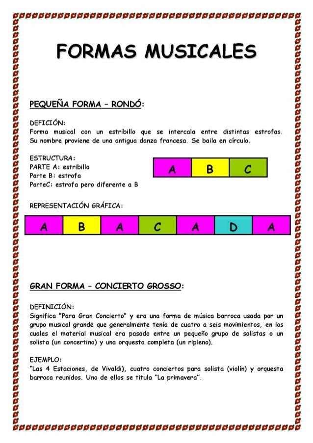 Fichas Musica Clases De Música De Primaria Educacion Musical Fichas De Música