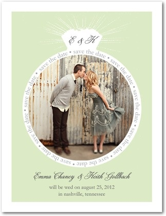 Save the Date Postcards Stunning Ring - Front : Light Gray