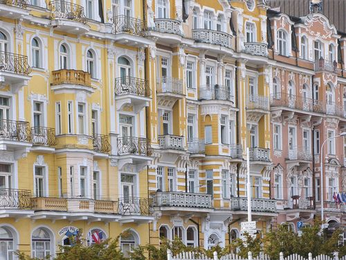 Marienbad mansions - Bohemian Baroque architecture   by © Wolfgang Hammer