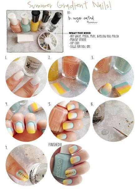 17 Best Ideas About Gradient Nails Tutorial On Pinterest