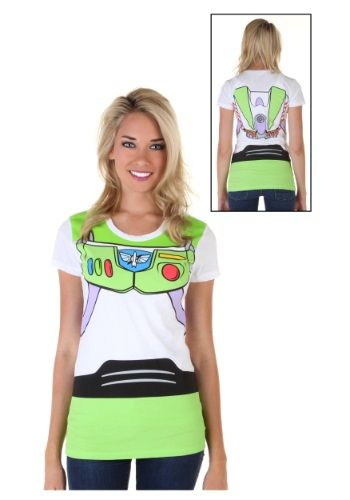 The evil Emperor Zurg is going down! All you need is this Women's Toy Story Buzz Lightyear Costume T-Shirt and you too can be a galactic hero!