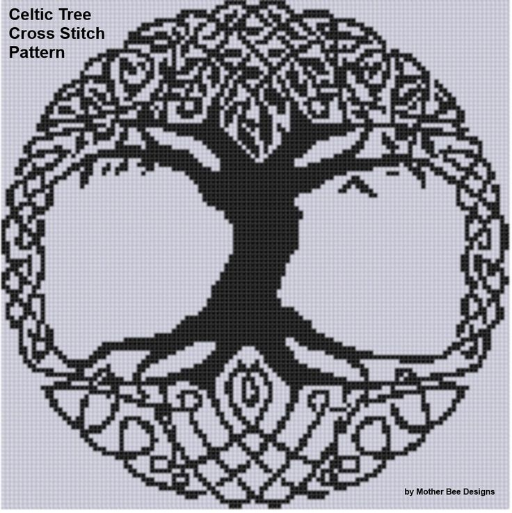 Yggdrasil cross stitch pattern I'd love to do this in filet crochet