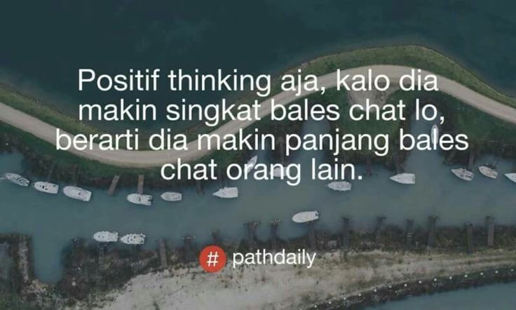 Positif thinking ya