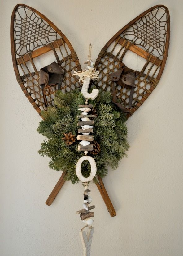 Snowshoes for holiday decorating