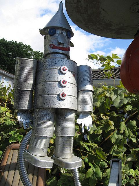 66 best tin can people images on pinterest tin cans for Tin can tin man craft