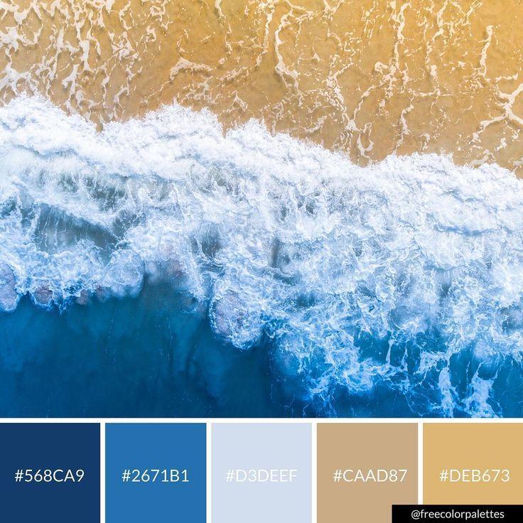 Beach Ocean Blue Color Palette Inspiration Digital Art