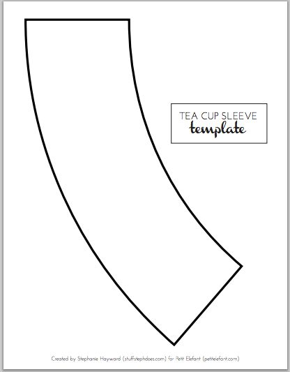 home made diy tea cup template sewing projects coffee cup