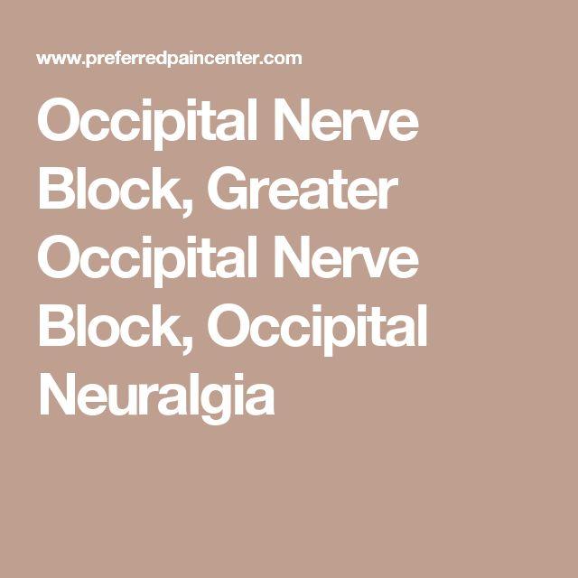 Occipital Nerve Block, Greater Occipital Nerve Block, Occipital Neuralgia
