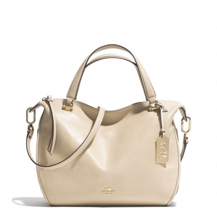 The Madison Smythe Satchel In Leather from Coach