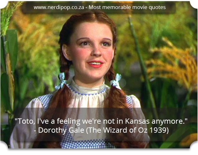 Most memorable movie quotes - Wizard of Oz