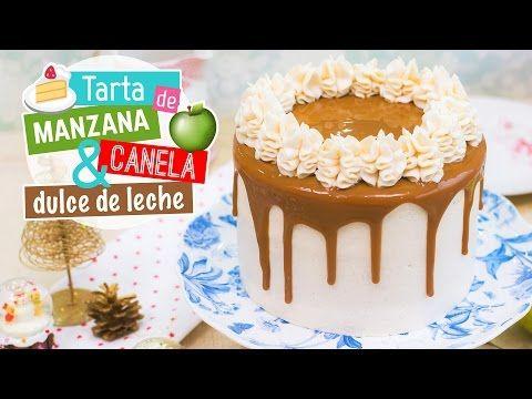 Tarta de manzana, canela y dulce de leche | Recetas navideñas | Quiero Cupcakes! - YouTube