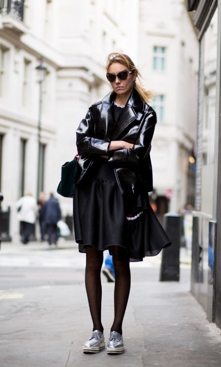 .leather street style
