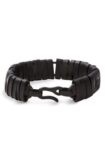 DIESEL® Wrapped Leather Biker Bracelet | Nordstrom
