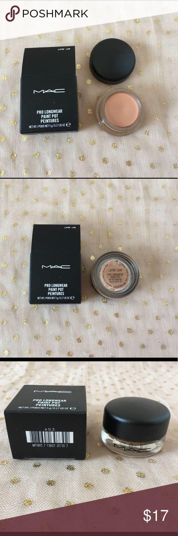 MAC Paint Pot Layin' Low New in box. Never used or swatched. MAC Pro Longwear Paint Pot in Layin' Low. MAC Cosmetics Makeup Eyeshadow