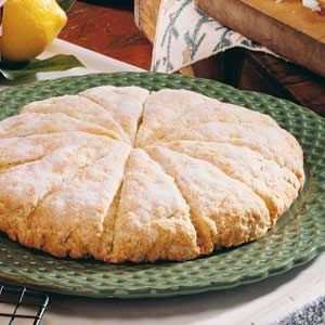 Lemon Scones. {I doubled the grated lemon peel as well as added 2 tablespoons of…