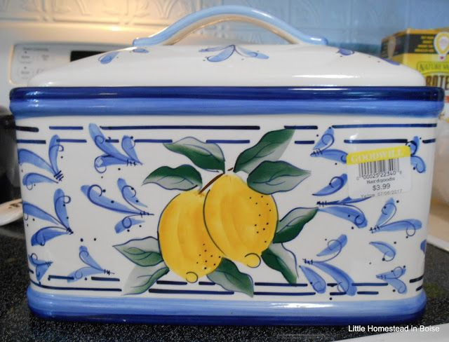 Little Homestead in Boise: Thrifting Scores, French Country ceramic bread box