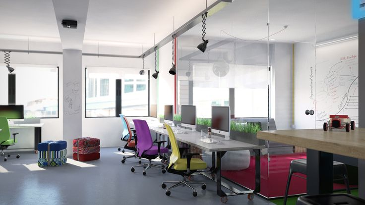 Locish office, headquarters in Athens - 3d rendering