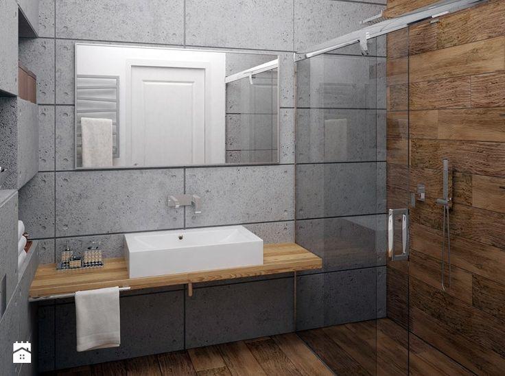 Łazienka beton architektoniczny - Łazienka - Styl Nowoczesny - Gotowe Wnętrza