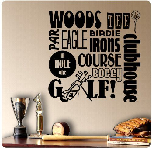 Golfing Golf Sayings Wall Decal Sticker Art Mural Home Décor Quote WallPressions http://www.amazon.com/dp/B00GM5JTEK/ref=cm_sw_r_pi_dp_ujb-tb0QWJZGP
