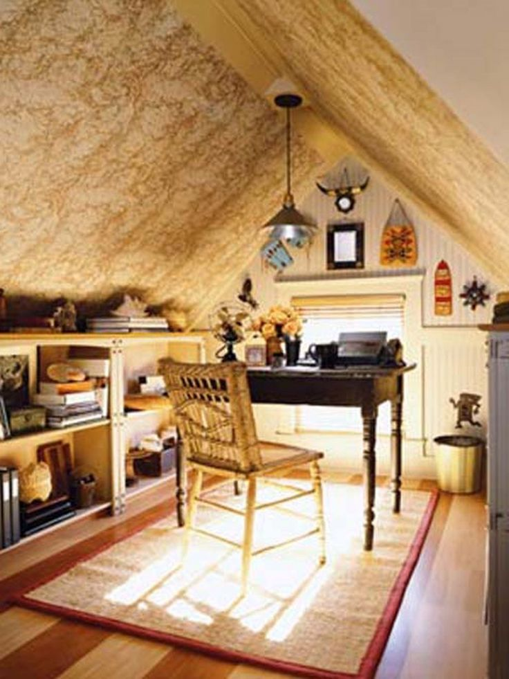 Enchanting Modern Desks For Home Office Construction Luxury Design Home Office Winsome Effects Picture Cute Small Attic Home Office Ideas Small Space Great ... & 7 best Dream House: Attic images on Pinterest | Attic spaces Attic ...