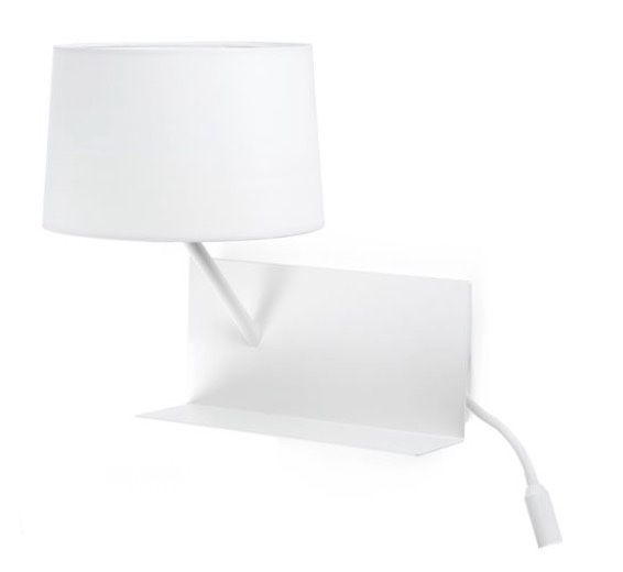 Lámpara de pared con repisa y cargador USB para móvil | Comprar lámparas de pared modernas modernas de diseño | Lámparas e iluminación #iluminacion #decoracion #lamparas #diseño #arquitectura #apliquespared #lamparasparacasa