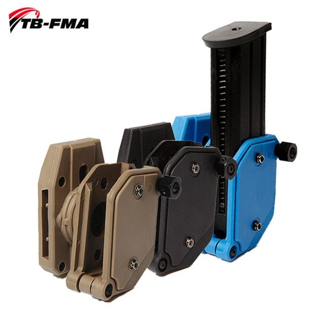 FMA Fast Attach Molle System Rifle 5.56 Mag//Pistol Double Magazine Pouch