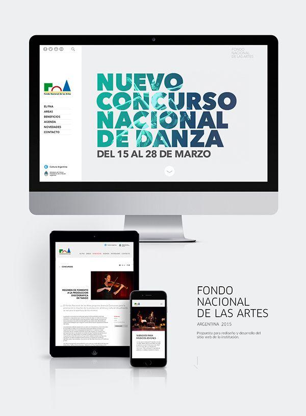 FNA . Fondo Nacional de las Artes. Propuesta para diseño web de la institución.