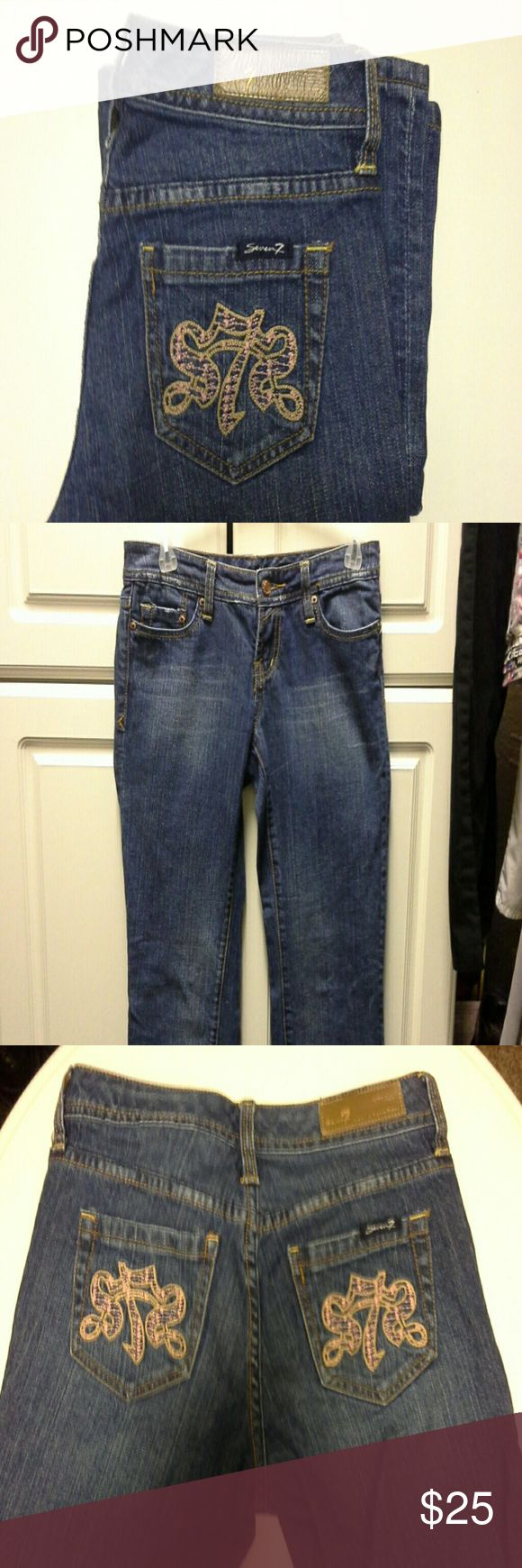 """Seven7 jeans Excellent condition.  Few small wear at bottom of jeans.  This is a reposh because it's small on me.  Length 33"""".  99 cotton, 1 spandex Seven7 Jeans"""