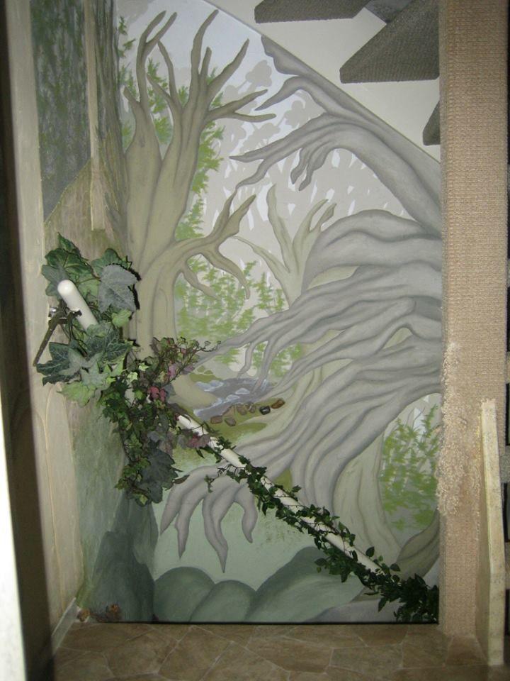 17 beste afbeeldingen van plafond en muurschilderingen - Vervoeren van een trappenhuis ...