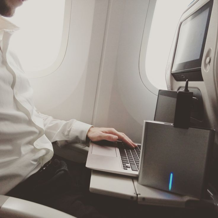 Take your office anywhere you want with Lifepower by your side!  #lifepower #mobileoffice #onthego #businesstrip #airplane #powerup #poweryourdreams #portable #walloutlet #AC