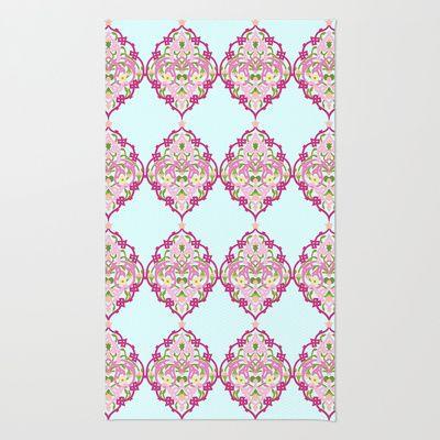 #Damascus #Pattern #rug #arab #vintage #floral #heaven7