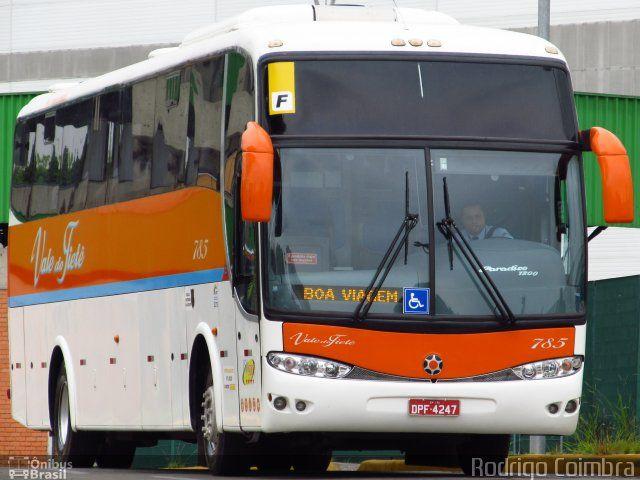 Ônibus da empresa Viação Vale do Tietê, carro 785, carroceria Marcopolo Paradiso G6 1200, chassi Scania K310. Foto na cidade de São Paulo-SP por Rodrigo Coimbra, publicada em 04/11/2012 16:50:32.
