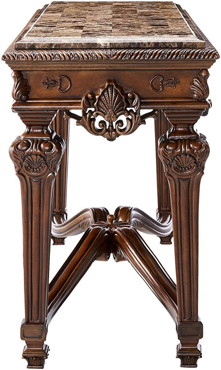 Marble Top Console Table - Traditional Styling with Ornate ...