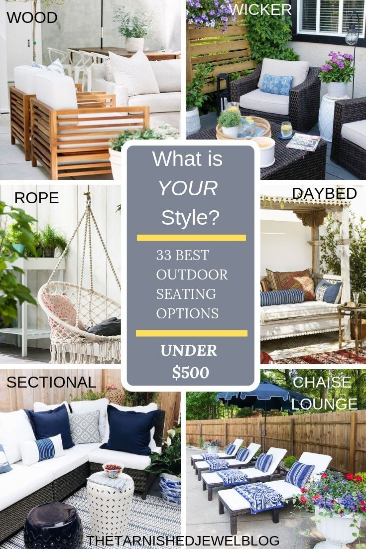 33 Best Outdoor Seating Options All Under 500 Best Outdoor Furniture Outdoor Seating Outdoor Decor