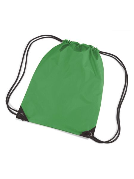 Groene gymtasjes  Nylon gymtas in het grasgroen van waterafstotende stof en reigkoord. Inhoud: 12 liter. Afmeting: 45 x 34 cm.  EUR 3.50  Meer informatie