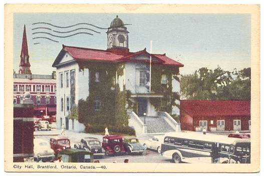CITY HALL, BRANTFORD, ONTARIO, CANADA 1949 — Ancient Tony Vintage PostCards