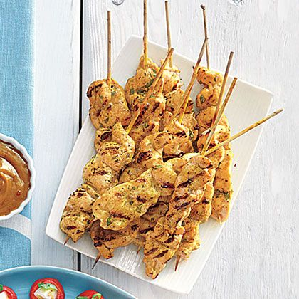 Chicken Satay with Peanut Sauce Recipe | MyRecipes