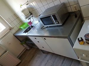 Küchenzeile Ikea  Udden  Modulküche Edelstahl Weiß 5 Teilig Länge 241 50 CM…