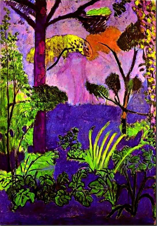 Henri Matisse. Periwinkles / Moroccan Garden. Tangier, winter-spring 1912 - Google Search