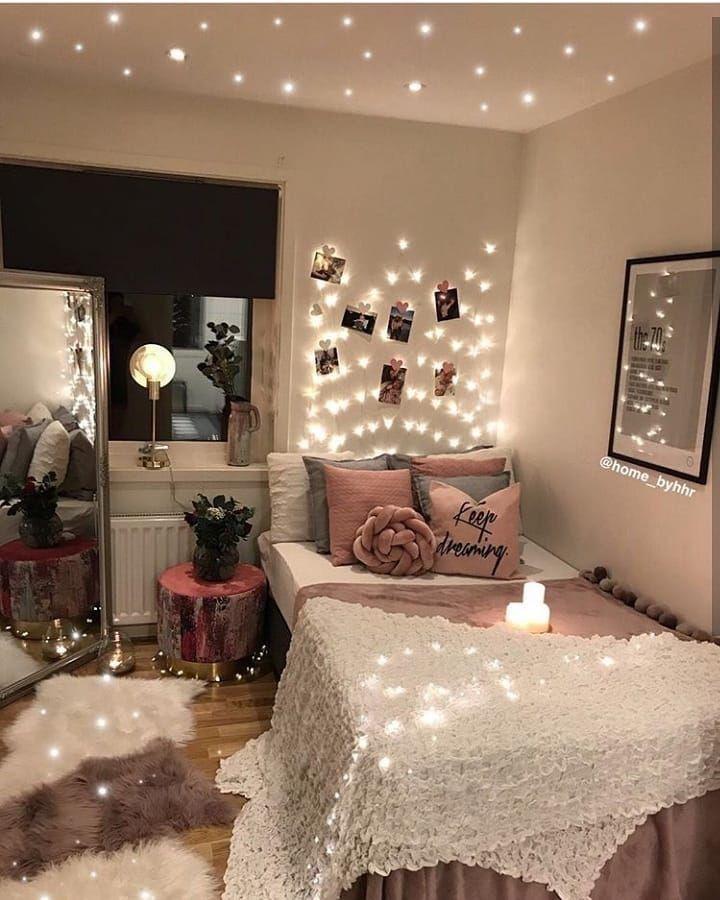 Pinterest Mnnxcxx Cozy Bedroom Lighting Dorm Room Lights Aesthetic Bedroom
