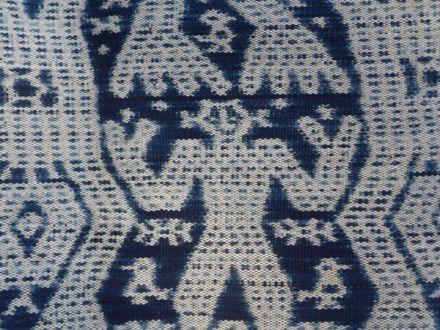 Indigo dyed threads- Atoni or ancestor motif from Timor, Indonesia