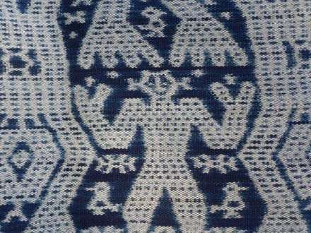 Indigo dyed threads- Atoni or ancestor motif from Timor, Indonesia